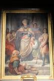 Χρωματίζοντας το γλυπτό σημαντικής βασιλικής Αγίου Mary - Ρώμη Στοκ φωτογραφία με δικαίωμα ελεύθερης χρήσης