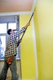χρωματίζοντας το δωμάτιο & στοκ φωτογραφία
