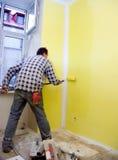 χρωματίζοντας το δωμάτιο & στοκ φωτογραφίες