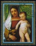 Χρωματίζοντας τσιγγάνος Madonna από Titian Στοκ Φωτογραφίες