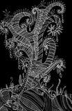 Χρωματίζοντας υπερφυσικό shamanic δέντρο σελίδων Στοκ εικόνες με δικαίωμα ελεύθερης χρήσης