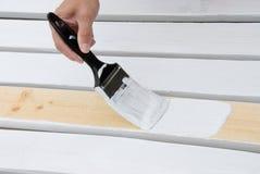 χρωματίζοντας slats ξύλινα Στοκ Εικόνα