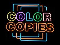 χρωματίστε τα αντίγραφα στοκ εικόνα