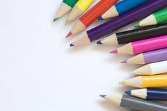 χρωματίστε τα μολύβια Στοκ εικόνα με δικαίωμα ελεύθερης χρήσης