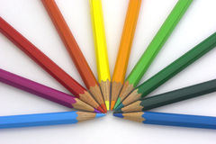χρωματίστε τα μολύβια Στοκ Εικόνες