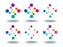 χρωματίστε τα σημάδια λο&gamma Στοκ εικόνες με δικαίωμα ελεύθερης χρήσης