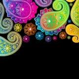 χρωματίστε τα σχέδια Paisley Στοκ φωτογραφία με δικαίωμα ελεύθερης χρήσης