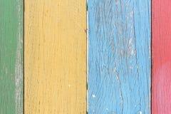 Χρωματίστε την ξύλινη ανασκόπηση Στοκ Φωτογραφία