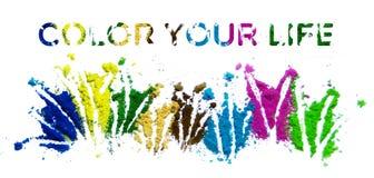 Χρωματίστε τη ζωή σας Στοκ Φωτογραφίες