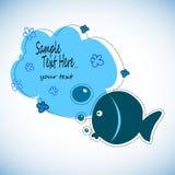 Χρωματίστε τη δραστηριότητα σχεδίων ψαριών Εκπαιδευτικό παιχνίδι για τα προσχολικά ηλικίας παιδιά, θέμα ζώων Στοκ Φωτογραφία