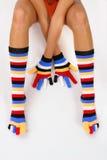 χρωματίστε τις κάλτσες Στοκ Φωτογραφίες