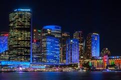 Χρωματίστε το μπλε πόλεων - ζωηρό Σίδνεϊ Στοκ εικόνες με δικαίωμα ελεύθερης χρήσης
