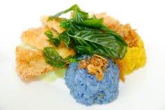 Χρωματίστε το τηγανισμένο ρύζι Στοκ Φωτογραφία