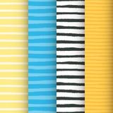 Χρωματισμένα άνευ ραφής σχέδια λωρίδων καθορισμένα Στοκ Εικόνα