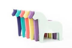 χρωματισμένα άλογα Στοκ φωτογραφία με δικαίωμα ελεύθερης χρήσης