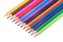 χρωματισμένα απομονωμένα μολύβια Στοκ Εικόνες