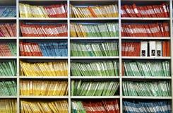 χρωματισμένα αρχεία Στοκ φωτογραφία με δικαίωμα ελεύθερης χρήσης