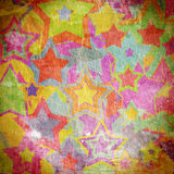 Χρωματισμένα αστέρια στον τοίχο Στοκ Εικόνα