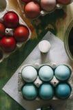 Χρωματισμένα αυγά Πάσχας καθορισμένα Στοκ φωτογραφίες με δικαίωμα ελεύθερης χρήσης