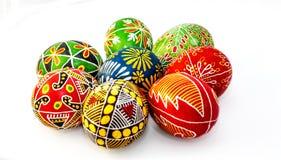 χρωματισμένα αυγά Πάσχας π&omic Στοκ φωτογραφία με δικαίωμα ελεύθερης χρήσης