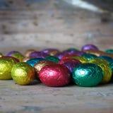 χρωματισμένα αυγά Πάσχας Στοκ Εικόνες