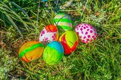 χρωματισμένα αυγά Πάσχας στοκ φωτογραφίες με δικαίωμα ελεύθερης χρήσης