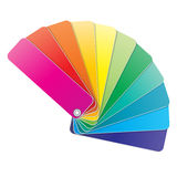 χρωματισμένα βιβλίο swatches Στοκ Εικόνες