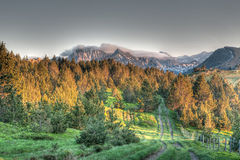 Χρωματισμένα βουνά Στοκ εικόνες με δικαίωμα ελεύθερης χρήσης