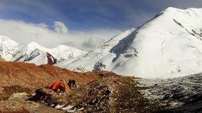χρωματισμένα βουνά Pamir Στοκ εικόνα με δικαίωμα ελεύθερης χρήσης