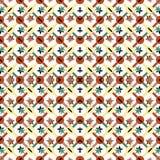 Χρωματισμένα γεωμετρικά αντικείμενα σε μια ελαφριά ταπετσαρία σχεδίων υποβάθρου άνευ ραφής διανυσματική Στοκ Φωτογραφία