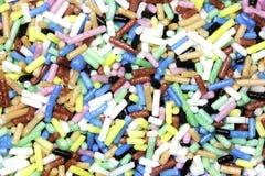 Χρωματισμένα γλυκά ζάχαρης κοντά επάνω Στοκ Φωτογραφίες