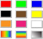 χρωματισμένα γραμματόσημα Στοκ Εικόνα