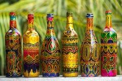 Χρωματισμένα γυαλί μπουκάλια Στοκ εικόνες με δικαίωμα ελεύθερης χρήσης