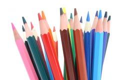 χρωματισμένα δέσμη μολύβια στοκ φωτογραφία