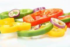 χρωματισμένα δαχτυλίδια πάπρικας Στοκ Φωτογραφία