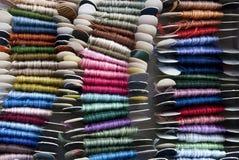 χρωματισμένα διαγώνια νήμα&tau Στοκ Φωτογραφίες