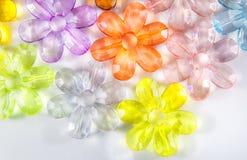 Χρωματισμένα διαφανή λουλούδια γυαλιού Στοκ Φωτογραφίες