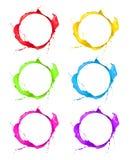 Χρωματισμένα εικονίδια στοκ φωτογραφίες με δικαίωμα ελεύθερης χρήσης