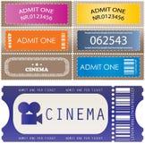 χρωματισμένα εισιτήρια Στοκ φωτογραφίες με δικαίωμα ελεύθερης χρήσης