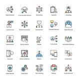 Χρωματισμένα επικοινωνία διανυσματικά εικονίδια Στοκ Φωτογραφία