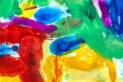 Χρωματισμένα επιχρίσματα Στοκ Εικόνες
