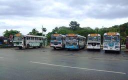 Χρωματισμένα λεωφορεία σε Galle στοκ εικόνα με δικαίωμα ελεύθερης χρήσης