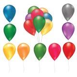 Χρωματισμένα διάνυσμα μπαλόνια Στοκ Εικόνα