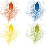 Χρωματισμένα διάνυσμα φτερά καθορισμένα Στοκ Φωτογραφίες