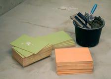 χρωματισμένα κάδος κεραμίδια στοκ φωτογραφία με δικαίωμα ελεύθερης χρήσης