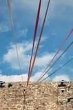 χρωματισμένα καλώδια Στοκ Φωτογραφίες
