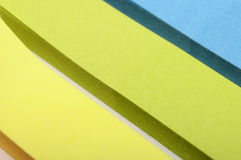 Χρωματισμένα κομμάτια εγγράφου στοκ εικόνες με δικαίωμα ελεύθερης χρήσης
