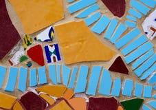 Χρωματισμένα κομμάτια κεραμιδιών Στοκ Φωτογραφία