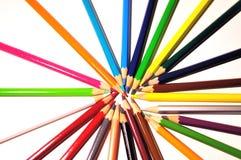 χρωματισμένα κραγιόνια Στοκ Εικόνα