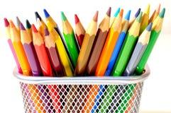 χρωματισμένα κραγιόνια Στοκ εικόνα με δικαίωμα ελεύθερης χρήσης